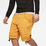 G-Star RAW® Rovic Deconstructed Loose 1/2-Length Shorts Yellow model front