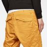 G-Star RAW® Rovic Deconstructed Loose 1/2-Length Shorts Yellow model back zoom