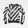 G-Star RAW® Dzzc Cropped Sweater Black flat front