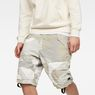 G-Star RAW® Rovic Deconstructed Loose 1/2-Length Shorts Grey model front