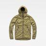 G-Star RAW® Strett Hooded Ripped Overshirt Green flat front