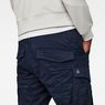 G-Star RAW® Rovic Zip 3D Tapered Cargo Pants Dark blue model back zoom