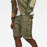 G-Star RAW® Rovic Tone-Mix Loose 1/2-Length Shorts Groen model front
