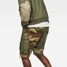 G-Star RAW® Rovic Tone-Mix Loose 1/2-Length Shorts Green model back