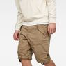 G-Star RAW® Rovic Deconstructed Loose 1/2-Length Shorts Green model front