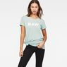 G-Star RAW® Rovi Knotted T-Shirt Light blue model front