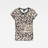 G-Star RAW® Leopard Straight T-Shirt White flat front