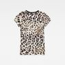 G-Star RAW® Leopard Straight T-Shirt White flat back
