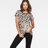 G-Star RAW® Leopard Straight T-Shirt White model front