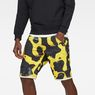 G-Star RAW® G-Star Elwood X25 3D Tapered Men's Shorts Yellow front flat
