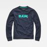 G-Star RAW® Misi Stalt Deconstructed Sweater Dark blue flat front