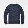 G-Star RAW® Misi Stalt Deconstructed Sweater Dark blue flat back