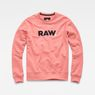 G-Star RAW® Misi Stalt Deconstructed Hooded Sweater Pink flat front
