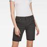 G-Star RAW® G-Star Elwood X25 3D Boyfriend Women's Shorts Black front flat