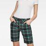 G-Star RAW® G-Star Elwood X25 3D Boyfriend Women's Shorts Green front flat