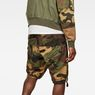 G-Star RAW® Tendric Deconstructed Loose 1/2-Length Shorts Grün model back