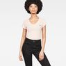 G-Star RAW® Eyben Slim V-Neck T-Shirt Pink model front