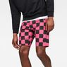 G-Star RAW® G-Star Elwood X25 3D Tapered Men's Shorts Pink front flat