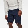 G-Star RAW® Rovic Deconstructed Loose 1/2-Length Shorts Dark blue model front