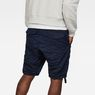 G-Star RAW® Rovic Deconstructed Loose 1/2-Length Shorts Dark blue model back
