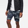 G-Star RAW® G-Star Elwood X25 3D Tapered Men's Shorts Dark blue front flat