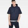 G-Star RAW® Tendric Stor Hooded 1/2-Sleeve Sweater Dunkelblau model front