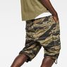 G-Star RAW® Rovic Relaxed 1/2-Length Shorts Green model back zoom