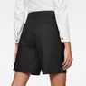 G-Star RAW® Bronson High Waist waist Loose Pleated Bermuda Shorts Black front flat