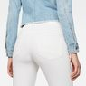 G-Star RAW® D-Staq 5-Pocket Ripped High Waist waist Capri Light blue front flat