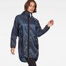 G-Star RAW® Strett Hooded Parka + Gym-Bag Dark blue model front