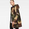 G-Star RAW® Strett Hooded Parka Green model side