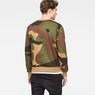 G-Star RAW® Oversized  Dutch Camo Stalt Deconstructed Sweater Green model back
