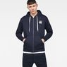 G-Star RAW® Core Zip-Hooded Zip Sweater Dark blue model front
