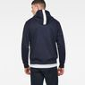 G-Star RAW® Core Zip-Hooded Zip Sweater Dark blue model back