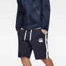 G-Star RAW® Core Stripe Loose Sweatshorts Dark blue model front
