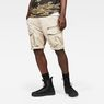 G-Star RAW® Rovic Zip Relaxed 1/2-Length Shorts Beige model front