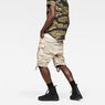 G-Star RAW® Rovic Zip Relaxed 1/2-Length Shorts Beige model back