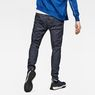 G-Star RAW® Lanc Straight Cuffed Jeans Dunkelblau model back