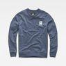 G-Star RAW® Doax Sweater Dunkelblau flat front