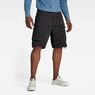 G-Star RAW® Rovic Zip Loose 1/2-Length Shorts Black model front
