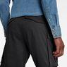 G-Star RAW® Rovic Zip Loose 1/2-Length Shorts Black model back zoom