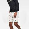 G-Star RAW® G-Star Elwood X25 3D Tapered Men's Shorts Weiß front flat
