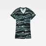 G-Star RAW® Joosa Pattern V-Neck Dress Green