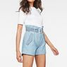 G-Star RAW® Rovic High waist Paperbag Shorts Light blue model front