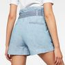 G-Star RAW® Rovic High waist Paperbag Shorts Light blue model back zoom