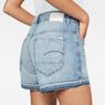 G-Star RAW® Arc High waist Boyfriend Ripped Shorts Hellblau front flat
