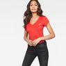 G-Star RAW® Eyben Slim V-Neck T-Shirt Red model front