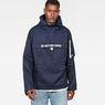 G-Star RAW® Rackam Deconstructed Hooded Anorak Jacket Dark blue model front