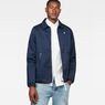 G-Star RAW® Strett Coach Overshirt Dark blue model front