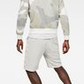 G-Star RAW® Core Stripe Loose Sweatshorts White model back
